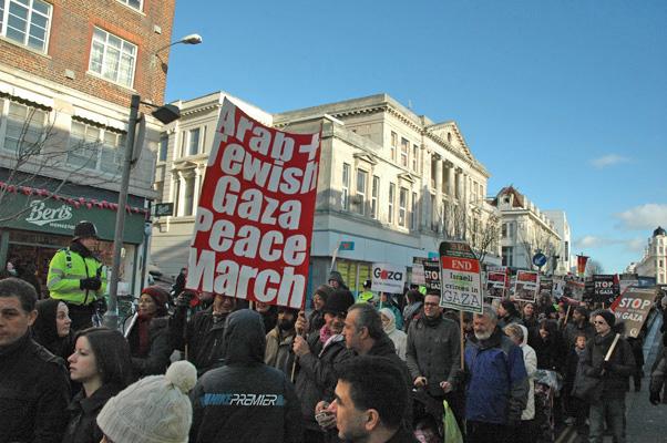 Brighton Peace Walk foir Gaza