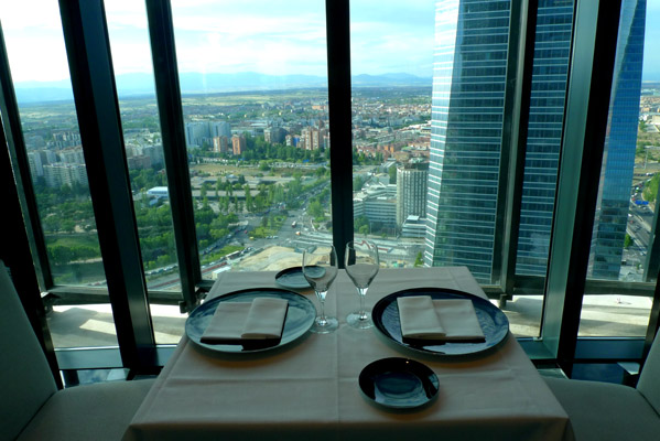 View from Eurostars Tower Restaurant