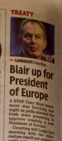 blair to be president