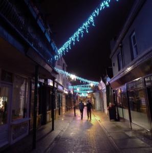 north lanes at night