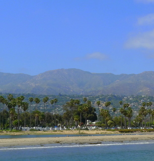 The mist clearing over Santa Barbara