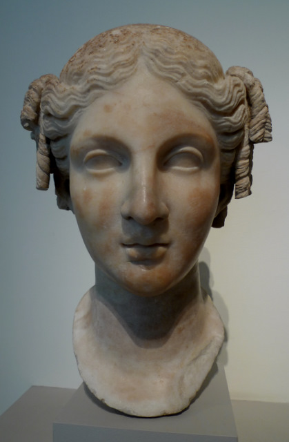 Marble Head of a Woman, 1st Century Rome