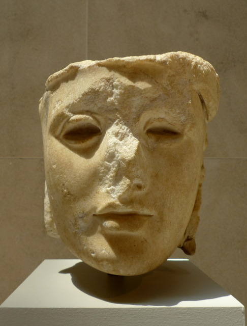 Marble Head of Athena, Rome, AD 138-92