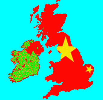 The uk in the red