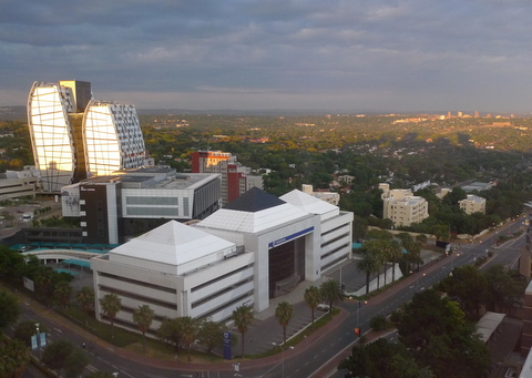 View from the Sandton Towers hotel