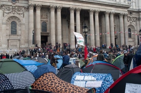 Occupy London protestes at St. Paul's Cathedral