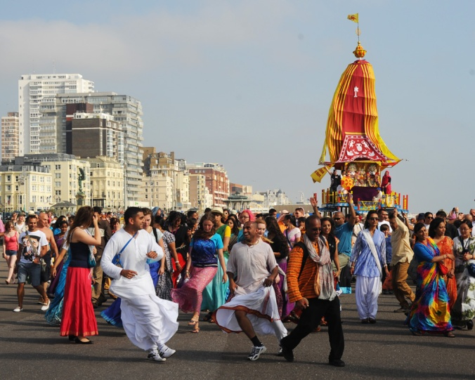 Rathayatra Cart Festival on Hove Prom