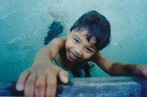 Kid at Ko Phi Phi, 1991
